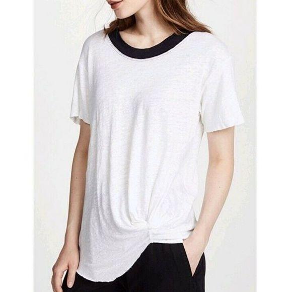 Stateside Womens Linen Jersey S//s Top